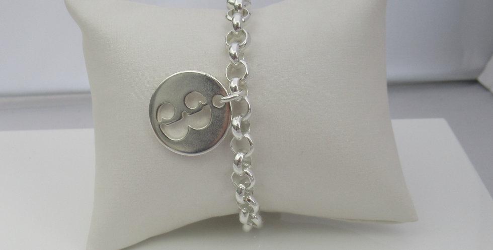 Bracelet maille chiffre 3