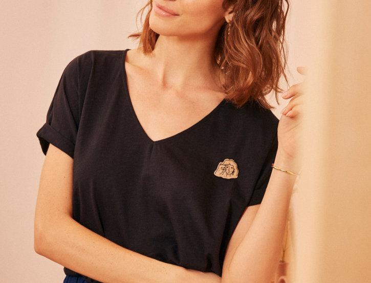 T-shirt Felicie Poivre
