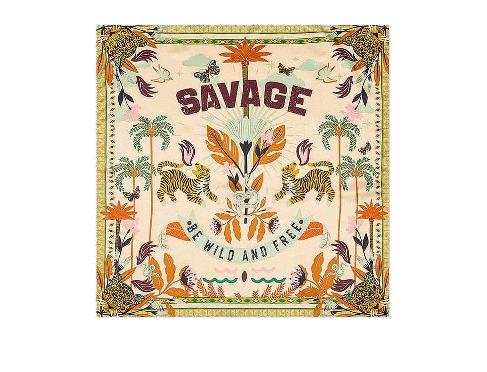 Mini Foulard Savage Beige