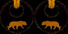 Boucles d'oreilles Tigre acétate or -gris