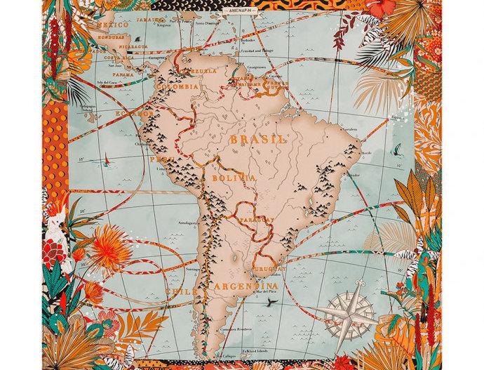 Mini Foulard South America