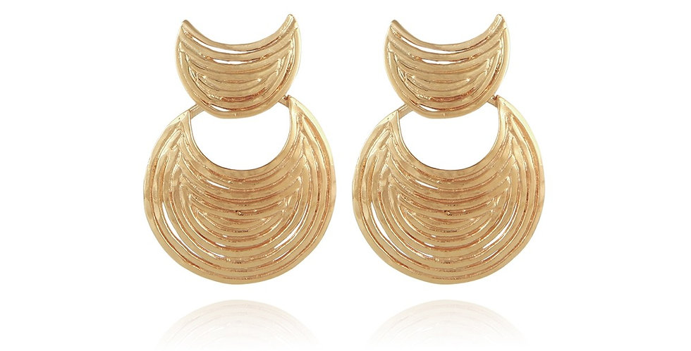 Boucles d'oreilles Luna Wave mini or