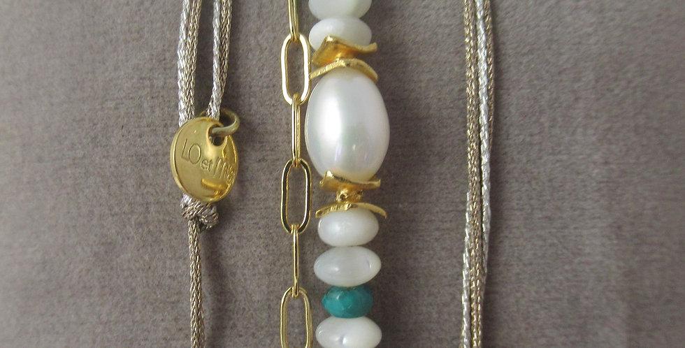 Bracelet Tahiti perle  turquoise