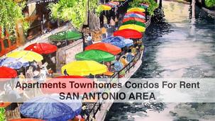 For Rent San Antonio Area