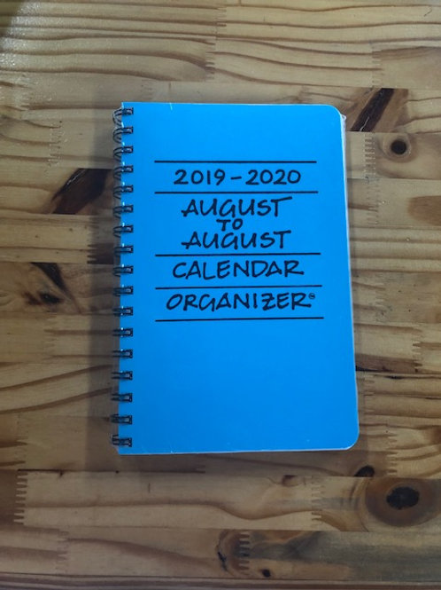 August to August Calendar Organizer 2019-2020