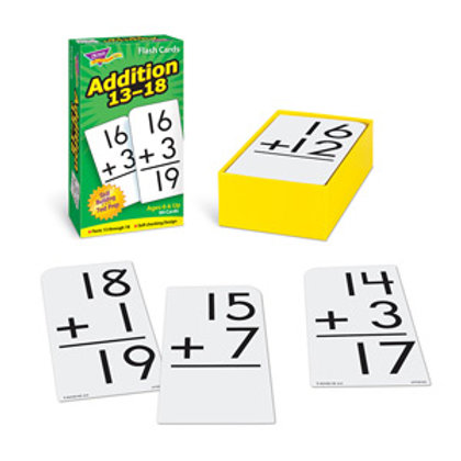 Addition 13-18 Skill Drill Flash Cards