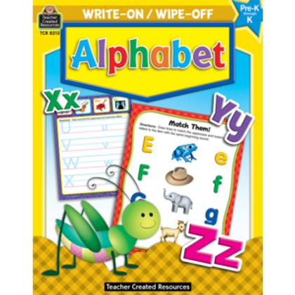 Alphabet Write-On Wipe-Off Book