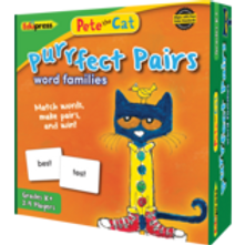 Pete the Cat Purrfect Pairs Game: Word Families
