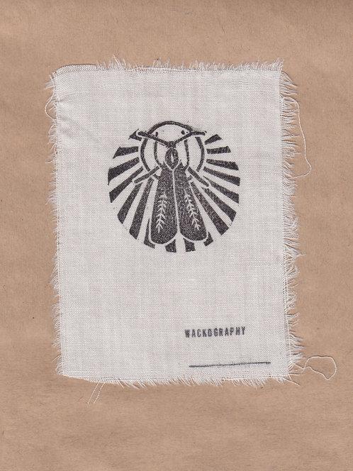 moth linoleum print