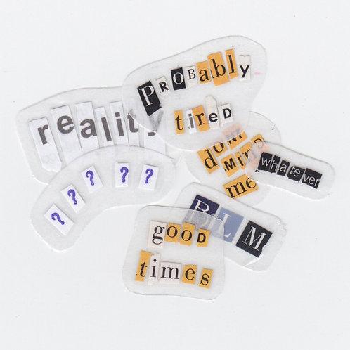 custom typed/ransom note sticker