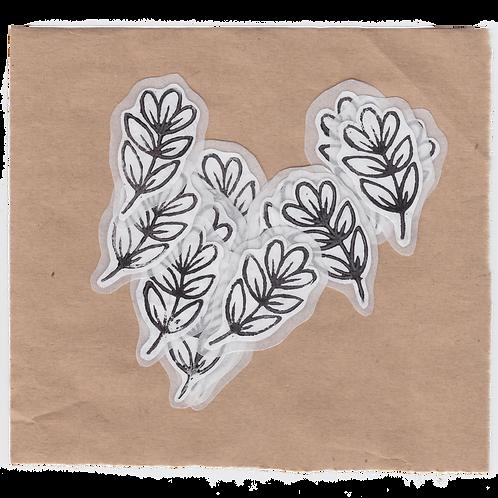 (small) flower sticker