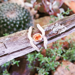 Garnet dress ring