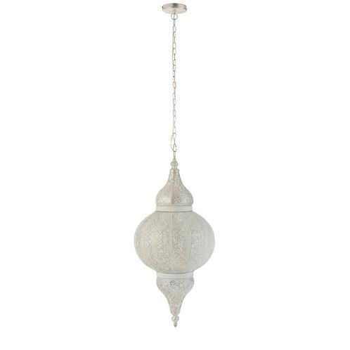 Lampe suspendue orientale blanche