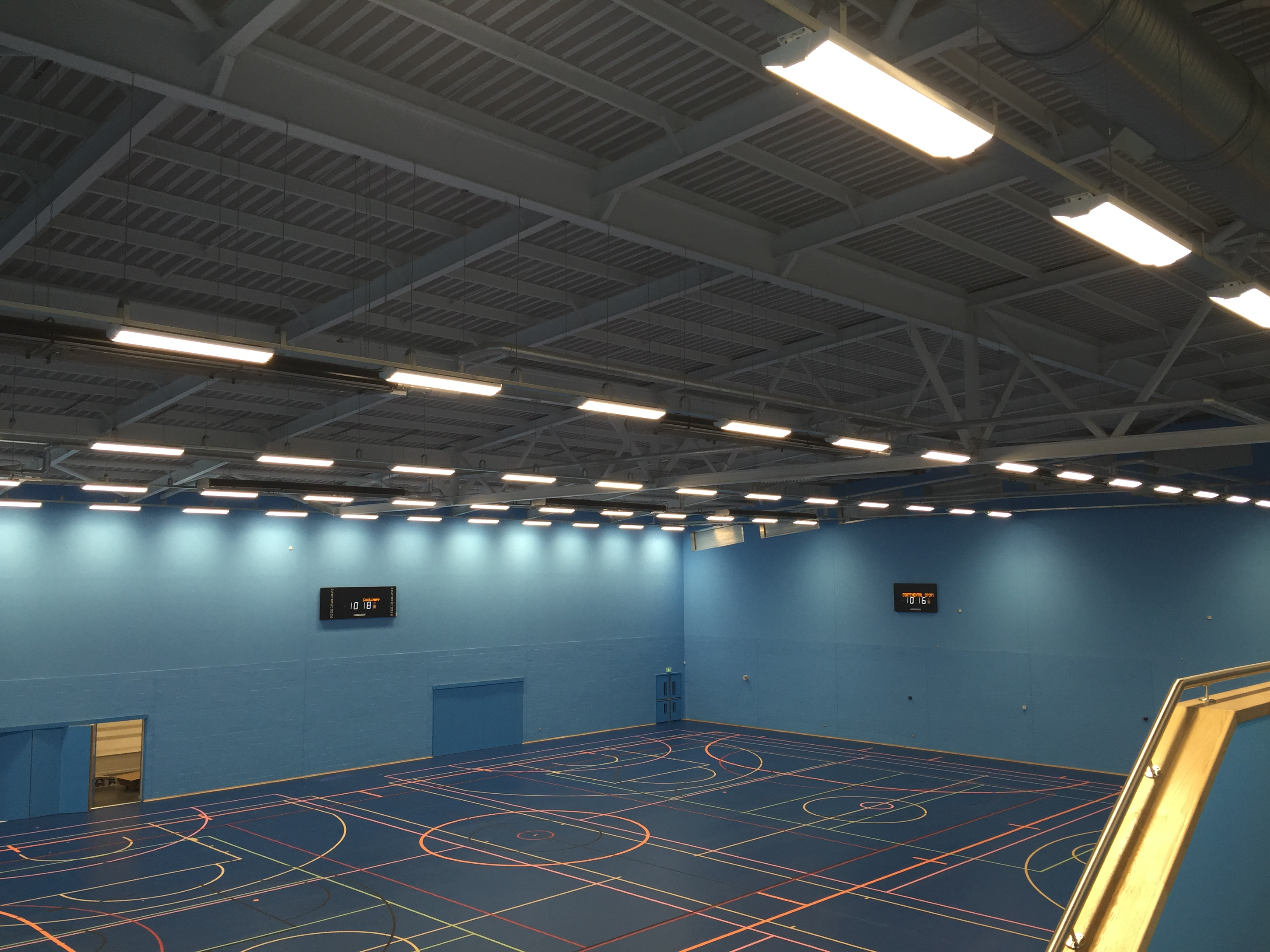 Sports Hall View from Viewing Gallery