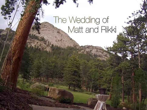 THE WEDDING OF MATT AND RIKKI