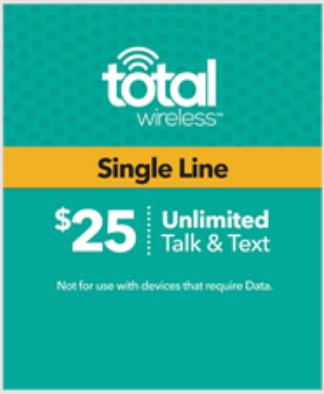 Total Wireless $25 1-Line Plan