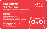 PagePlus $39.95 Unlimited Plan