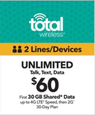 Total Wireless $60 2-Line Plan