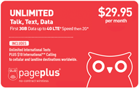 PagePlus $29.95 Unlimited Plan