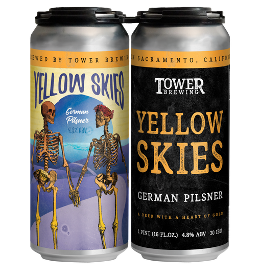 Yellow Skies 4 pack of cans - tower brewing