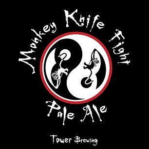 Monkey Knife Fight Pale Ale logo tower brewing sacramento