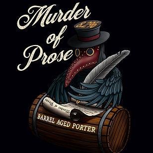 Murder of Prose - bourbon barrel aged porter - crow raven in plague doctor mask