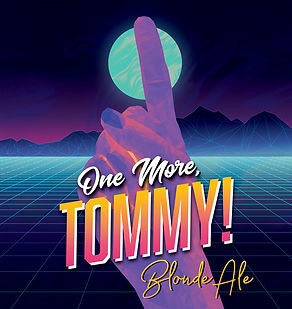 one more tommy label art - blone ale
