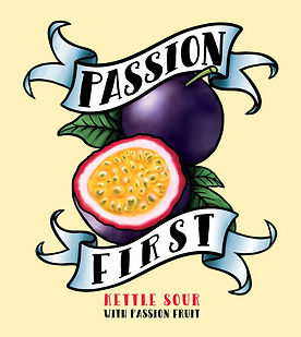passion first kettle sour - traditional tattoo - passion fruit