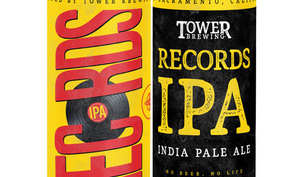 Records IPA 4 pack cans - tower brewing