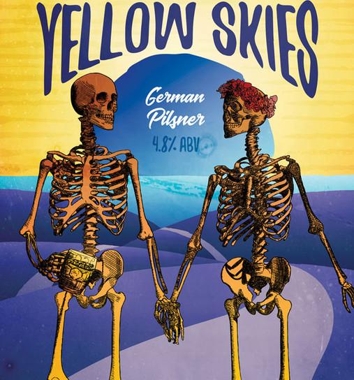 Yellow Skies Label Artwork