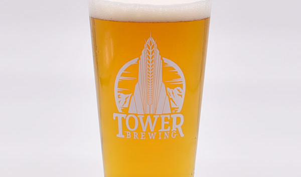 tower brewing beer glass