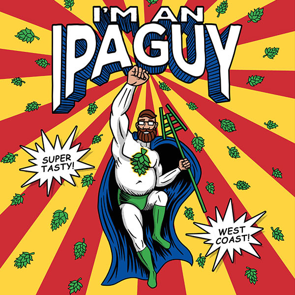 I'm An IPA Guy superhero brewer