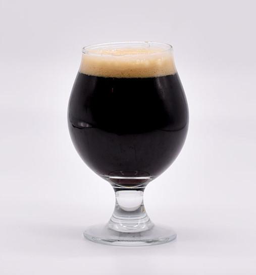 Murder of Prose bba porter in a goblet glass