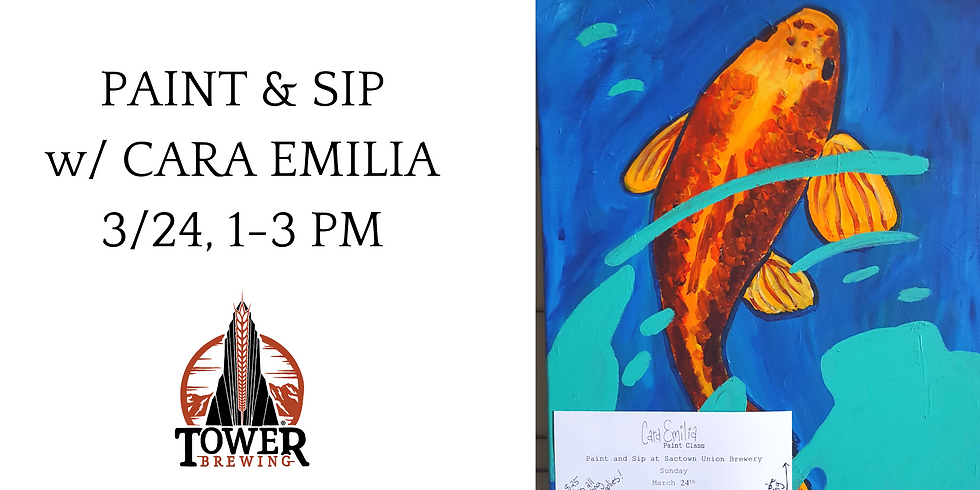 Paint & Sip at Tower Brewing