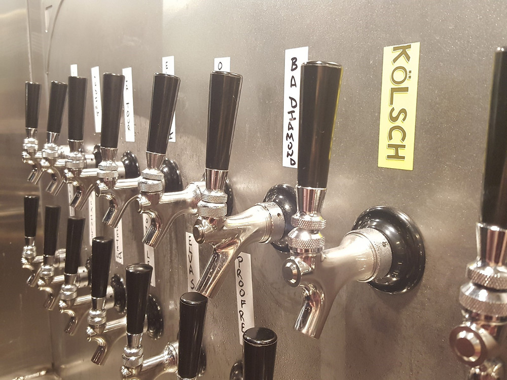 Beer Taps at Tower Brewing