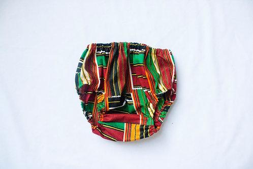 Unisex Amir / Amirah Kente Red Diaper Cover