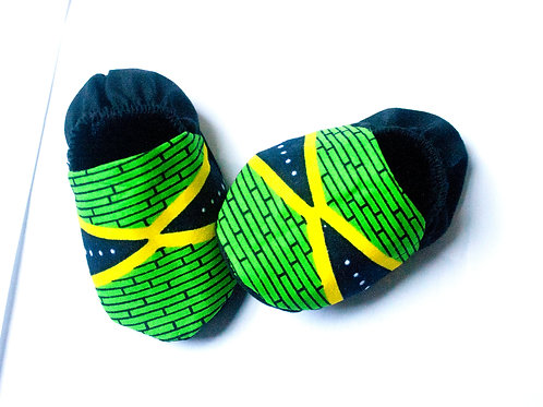 Unisex Jamaica Flag Inspired Baby Booties -