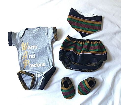 wap african kente inspired baby clothes.