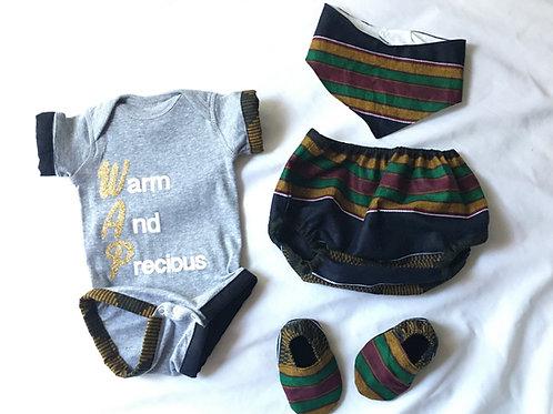 WAP Naimah Black Kente Girl Outfit Set