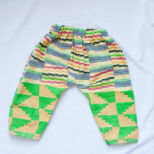 Unisex Spring Kente Print Relaxed Pants