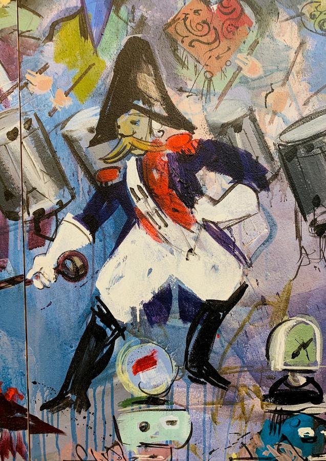 Detail aus dem Wandbild von Domo Löw