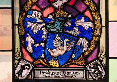 Wappenscheibe August Gantzer