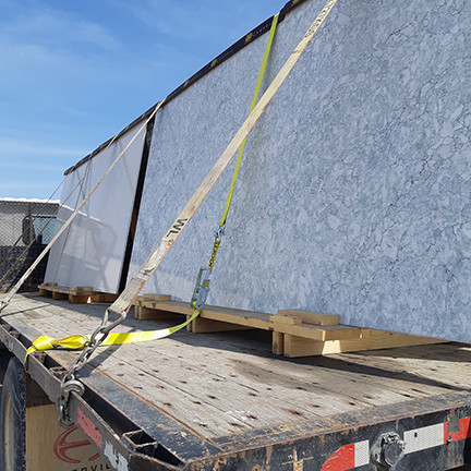 The four new Cambria slabs on their tour in April.