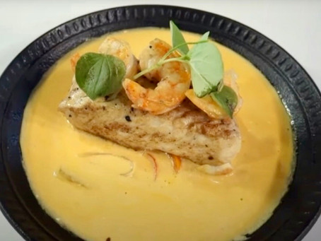 Prato especial tem filhote com bisque de camarão
