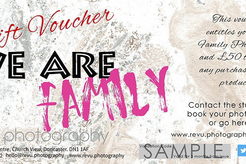 Family Portrait Photoshoot voucher