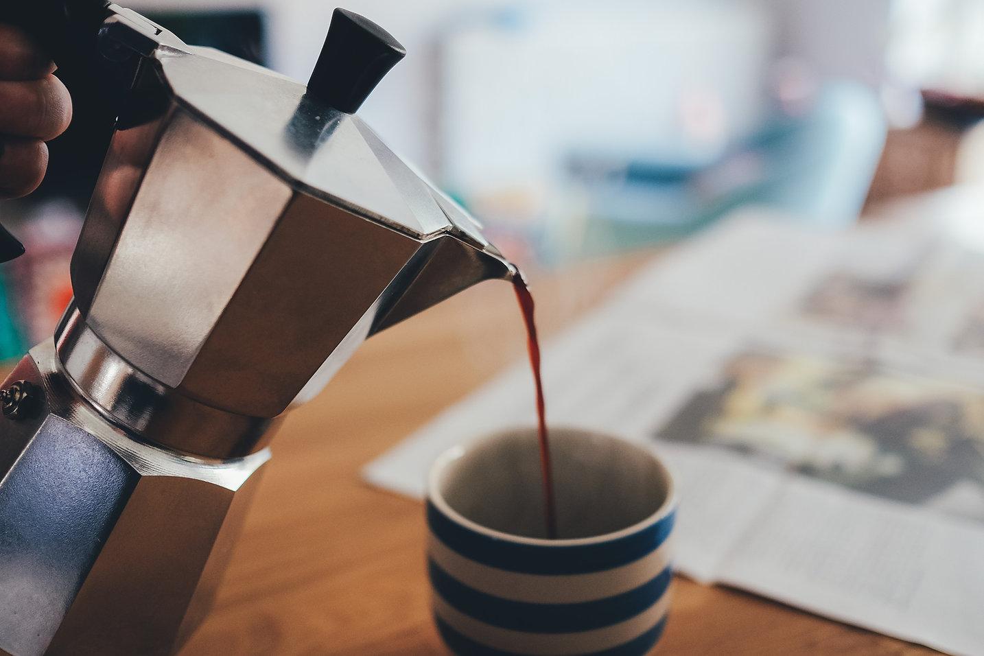 caffè di versamento