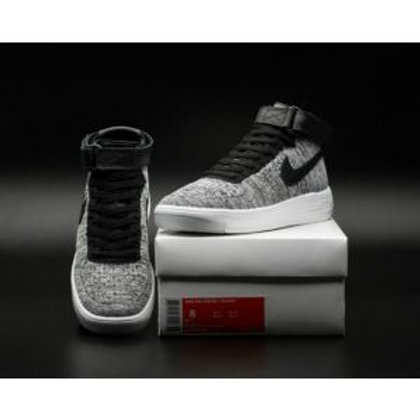 more photos 102d5 ff66a NIKE AIR FORCE ONE 1 ULTRA FLYKNIT HIGH-TOP GREY