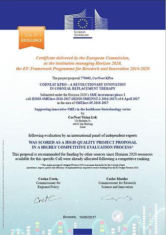 EU Horizon 2020 Seal of Excellence 2017