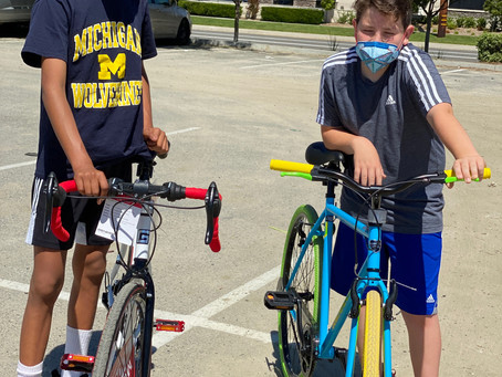 Bike riding for family fun during COVID-19