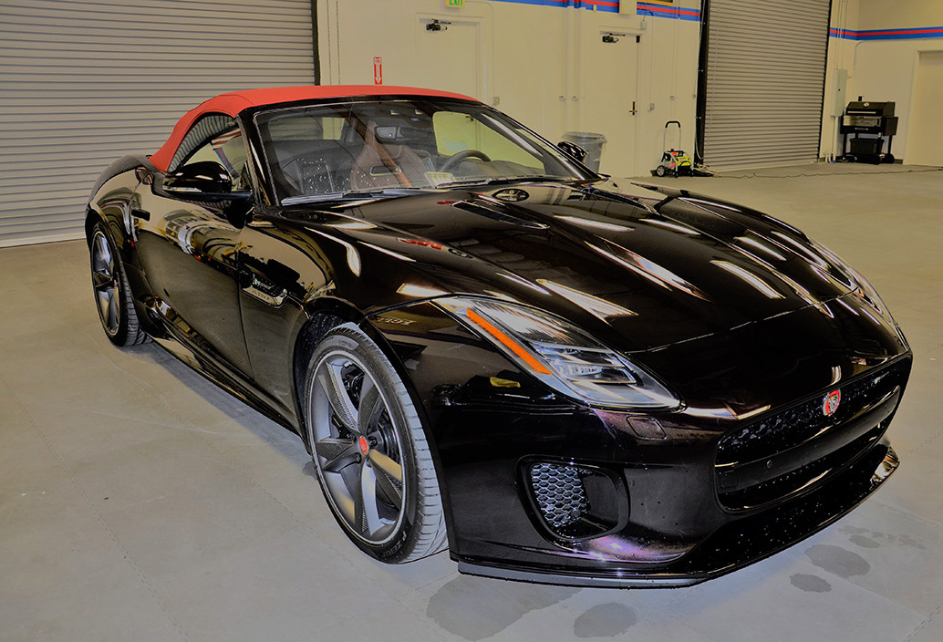 This gorgeous Jaguar has XPEL clear bra paint protection from MasterShield.